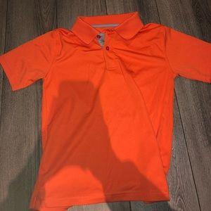 Orange Collared Shirt